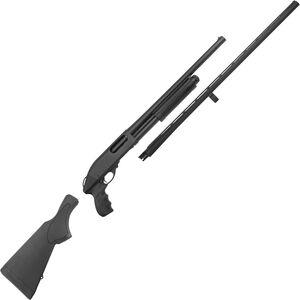 "Remington 870 Express Combo Pump Action Shotgun 12 Gauge 18.5""/28"" Barrels 3"" Chamber 5 Rounds Pistol Grip and Synthetic Stock Black"