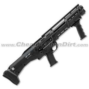 "Standard Manufacturing DP-12 12-Gauge Double-Barrel Pump-Action Shotgun, 18.875"" Barrels, 16 Rounds, Black"