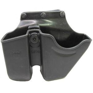 """Fobus Double Stack Magazine and Handcuff Roto 2.25"""" Belt Holder Polymer Black CU9RB"""