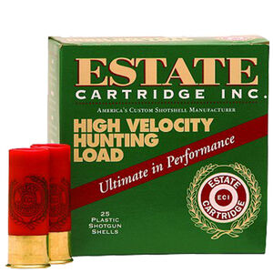 "Estate Cartridge High Velocity 20 Gauge Ammunition 2-3/4"" #7.5 Lead Shot 1 Ounce 1220 fps"
