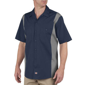 Dickies Men's Industrial Color Block Shirt S/S Large Tall Dark Navy/Smoke