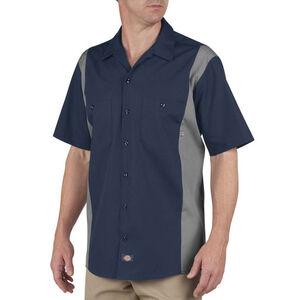 Dickies Men's Industrial Color Block Shirt S/S XL Dark Navy/Smoke