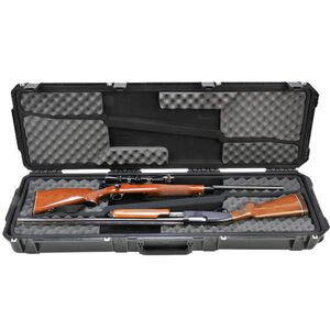 """SKB Sports iSeries 5014 Double Rifle Hard Case 50"""" Waterproof with Padlock Holes Polymer Black 3I-5014-DR"""