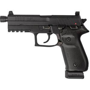 "FIME Group Rex Zero 1T Tactical 9mm Luger Semi Auto Pistol 4.9"" Threaded Barrel 20 Rounds Optic Ready Black"