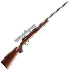 "Browning T-Bolt Target/Varmint Bolt Action Rimfire Rifle .22 WMR 22"" Heavy Target Barrel 10 Rounds Black Walnut Stock Polished Blued Finish 025176204"