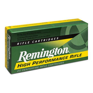 Remington High Performance Rifle .338 Lapua Magnum Ammunition 20 Rounds 250 Grain Scenar Match Projectile 2960fps