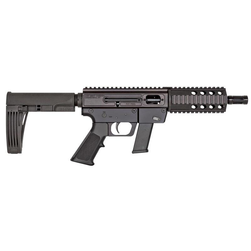 "Just Right Carbine Gen 3 9mm Luger AR Style Semi Auto Pistol 6.5"" Barrel 17 Rounds Aluminum Quad Rail Gearheadworks Mod2 Pistol Arm Brace Matte Black"