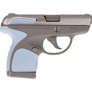 """Taurus Spectrum .380 ACP Semi Auto Pistol 2.8"""" Barrel 6 Rounds Gray Polymer Frame with Serenity Inserts Stainless Steel Finish"""