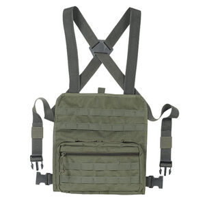 "Voodoo Tactical MOLLE Compatible Admin Chest Rig One Size Fits Most 13""x12.5""x2.5"" MOLLE Webbing Compatible Nylon OD Green"