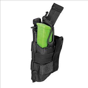 5.11 Tactical Double Pistol Magazine Bungee Cover SlickStick and MOLLE Elastic Compression Black 56155