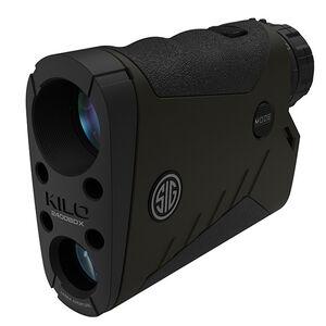 SIG Sauer Kilo2400BDX Laser Rangefinder 7x25mm Ballistic Data Xchange Compatible Milling Reticle LCD Display OD Green Finish
