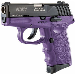 "SCCY CPX-3 .380 ACP Semi Auto Pistol 2.96"" Barrel 10 Rounds No Safety Purple Polymer Frame with Black Slide Finish"