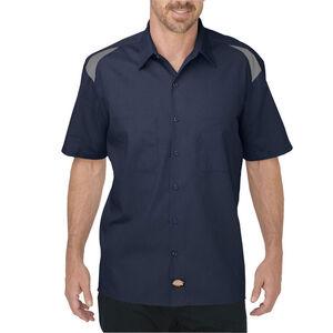 Dickies Men's Short Sleeve Performance Shop Shirt Medium Tall Dark Navy/Smoke