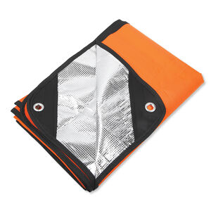 Ultimate Survival Technologies Survival Blanket 2.0, Polyethylene/reinforced fabric/metalized polyester, Orange and Silver Reflective 20-PGR0010-08