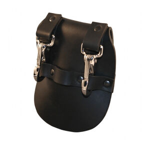 "Boston Leather Jailers Double Key Holder Fits 2.25"" Belt Leather Black"