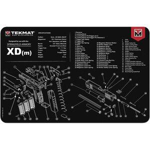 "TekMat XDM Pistol Mat, Neoprene, Black, 11""x17"""
