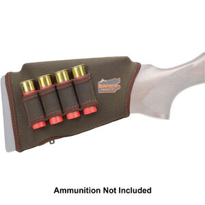 "Beartooth Products Comb Raising Kit 2.0 with Shotgun Ammo Loops 7"" Long Fits Most Shotgun Stocks Neoprene Brown"