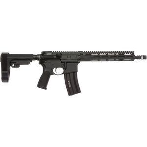 "Bravo Company USA RECCE-11 MCMR 5.56 NATO AR-15 Semi Auto Pistol 11.5"" Barrel 30 Rounds M-LOK Handguard SBA3 Adjustable Pistol Brace Black"