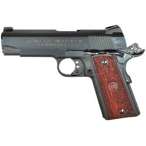 "American Classic 1911 Compact Commander Semi Auto Pistol .45 ACP 4.25"" Barrel 7 Rounds Wood Grips Blued Slide Finish ACCC45B"