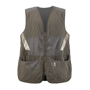 Browning Mens Summit Vest, Green/Dark Gray XX-Large