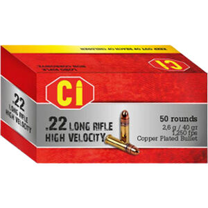 BBM .22 LR Ammunition 50 Rounds 40 Grain LRN Plated High Velocity 1130 fps