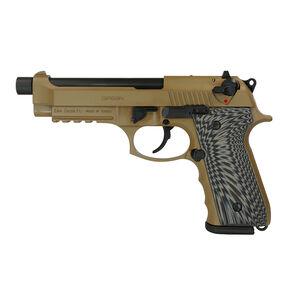"""EAA GiRSAN Regard MC BX 9mm Luger Semi Auto Pistol 5"""" Threaded Barrel 18 Rounds Beretta 92 Style Pistol Ambidextrous Safety Flat Dark Earth Finish"""