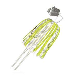 Z-man ChatterBait Original Lures 1/4 oz Weight 5/0 Hook Chartreuse/White