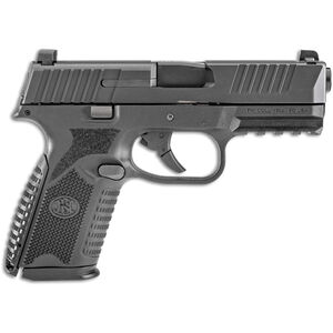 "FNH FN-509 Midsize 9mm Luger Semi Auto Pistol 4"" Barrel 15 Rounds Ambidextrous Controls Polymer Frame Black"