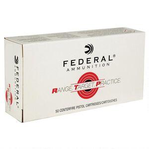 Federal Range Target Practice 9mm Luger Ammunition 50 Rounds 115 Grain Full Metal Jacket 1180fps