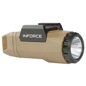 Inforce Gen3 APL Tactical Weapon Light 400 Lumen Output White Light LED CR123A Battery Fiber Composite Construction Flat Dark Earth