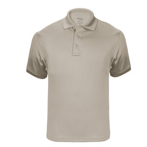 Elbeco UFX Tactical Polo Men's Short Sleeve Polo Large 100% Polyester Swiss Pique Knit Tan