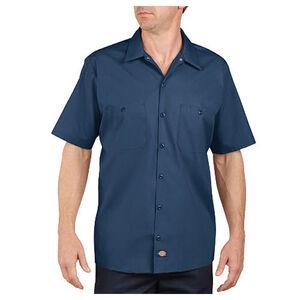 Dickies Short Sleeve Industrial Permanent Press Poplin Work Shirt 4 Extra Large Regular Navy LS535NV