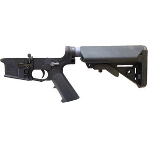 Knights Armament Company AR-15 Semi Auto SR-30 IWS Lower Receiver Kit .300 BLK Ambi Controls Match Trigger LMT SOPMOD Adjustable Stock Aluminum Black 31742