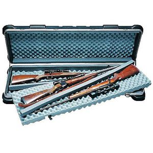 "SKB Sports ATA Quad Rifle Case Black Hard Plastic 50""X14.5""X6"" Locks Airline Approved 2SKB-5014"