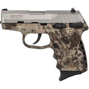 "SCCY CPX-1 9mm Luger Subcompact Semi Auto Pistol 3.1"" Barrel 10 Rounds Ambidextrous Safety Kryptek Highlander Polymer Frame with Stainless Slide Finish"
