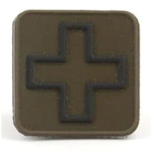 "Eleven 10 Cross Patch 1"" x 1"" PVC Ranger Green/Black"
