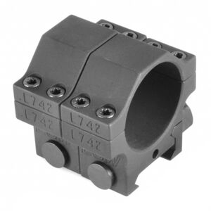 """EGW Heavy Duty 30mm Tactical Scope Rings Low Height .850"""" Billet Aluminum Anodized Finish Matte Black Finish"""