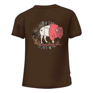 Realtree Women's Bison Short Sleeve T Shirt XXL Cotton Chocolate