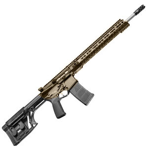 "POF USA Renegade Plus SPR Semi Auto Rifle .223 Wylde 18.5"" Barrel 30 Rounds Direct Gas Impingement System M-LOK Rail Luth-AR MBA Stock Burnt Bronze"
