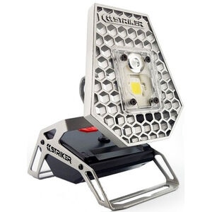 Striker ROVER Task Light White LED 1200 Lumen Rechargeable Cast Aluminum Silver/Black