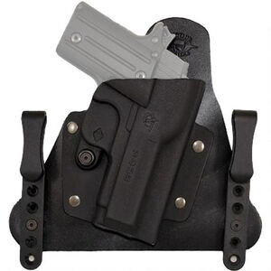 Comp-Tac Cavalry Holster GLOCK 43 IWB Hybrid Right Handed Leather/Kydex Black