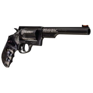 "Taurus Judge .45 Long Colt/.410 Bore Revolver 6.5"" Barrel 2.5"" Chamber 5 Rounds Custom Grips/Engraving Matte Black Oxide Finish"