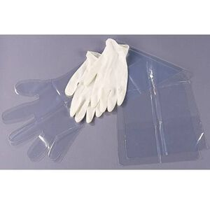 Allen Field Dressing Gloves Pack 2 Pair White and Clear