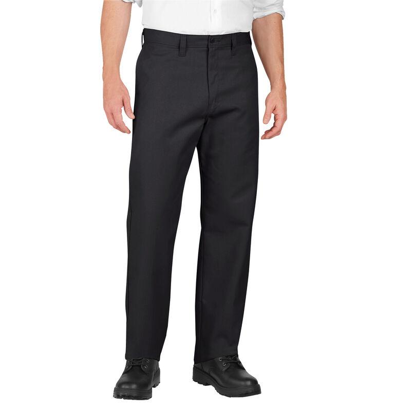 Dickies Men's Industrial Flat Front Pants Polyester / Cotton Waist 32 Length 32 Black LP812