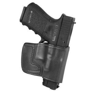 Don Hume J.I.T. Ruger LCR Slide Holster Right Hand Black Leather J989017R