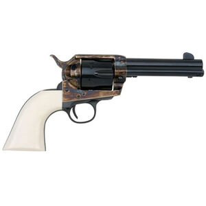 "E.M.F. Great Western II Deluxe Californian Revolver 45 LC 4.75"" Barrel 6 Rounds Case Hardened Frame Ivory Grips Blued"