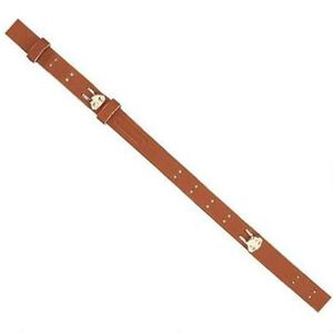 """Butler Creek Military Rifle Sling 44"""" Leather Brown"""