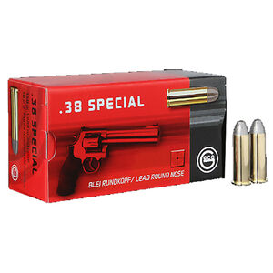 GECO .38 Special Ammunition 50 Rounds 158 Grain Lead Round Nose