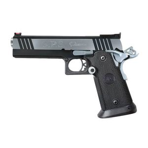 "Metro Arms SPS Pantera Semi Auto Pistol .40 S&W 5"" Barrel 16 Rounds Adjustable Rear Sight Fiber Optic Front Sight Polymer Grips Black Chrome SPP40BC"