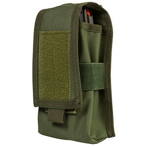 Nc Star Molle Double AR/AK Magazine Or Radio Pouch Green